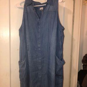 NWT Soft Sleeveless Denim Dress